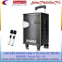 Loa kéo Sansui SA1-10 - 3 tấc kèm 02 micro không dây