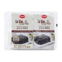 Lốc 2 gói lá kim tẩm dầu oliu Miwon 9g