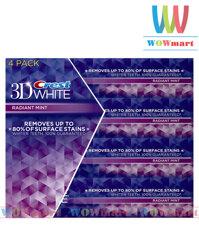 Lốc 4 hộp kem đánh răng Crest 3D White 156g x4