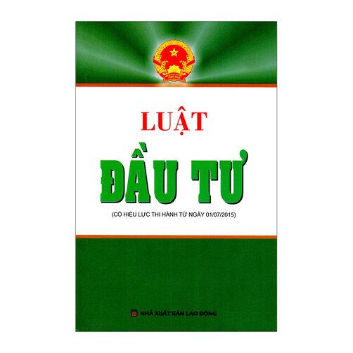 Luật Đầu Tư - Trí Việt Books