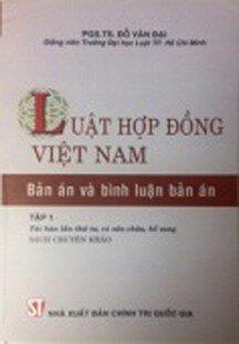 Luật hợp đồng Việt Nam - Bản án và bình luận bản án (sách chuyên khảo)
