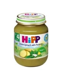 Dinh dưỡng đóng lọ HiPP rau chân vịt, khoai tây và sữa 125g