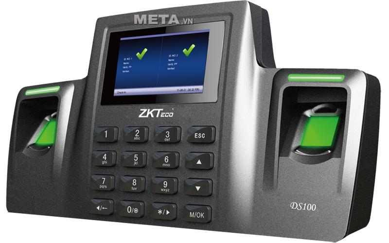 Máy chấm công vân tay và thẻ cảm ứng ZKTeco DS100