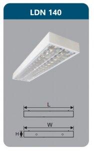 Máng đèn phản quang gắn nổi Duhal LDN140