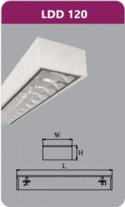 Máng đèn phản quang gắn nổi Duhal LDD120