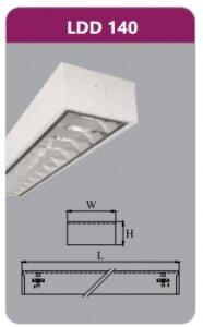 Máng đèn phản quang gắn nổi Duhal LDD140