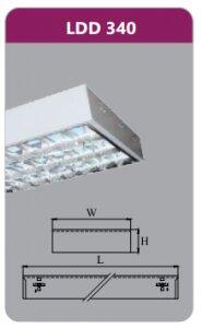 Máng đèn phản quang gắn nổi Duhal LDD340