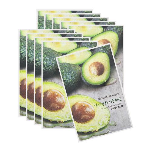 Mặt nạ bơ Nature Republic Real Nature Avocado Mask Sheet 23ml