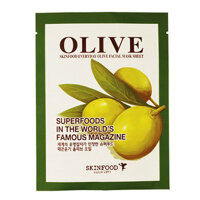 Mặt nạ chiết xuất olive Skinfood Everyday Olive Facial Mask Sheet 21g