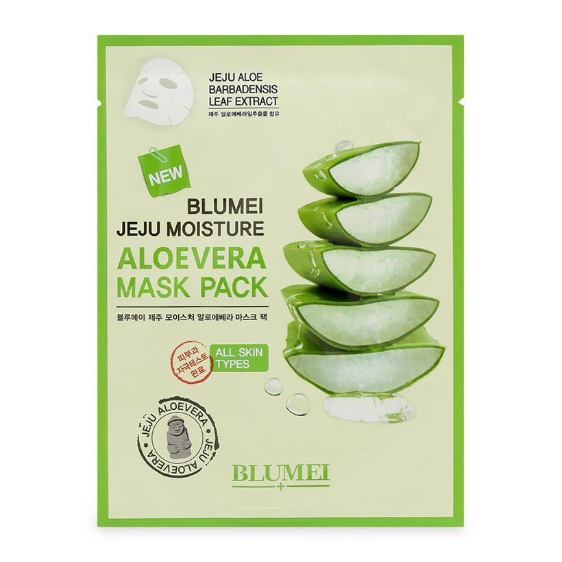 Mặt nạ dưỡng ẩm da lô hội Blumei Jeju Moisture Aloe Vera Mask Pack 23g
