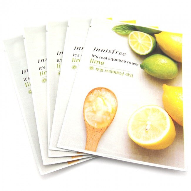 Mặt nạ giấy chanh Innisfree It's Real Squeeze Mask Title Lime