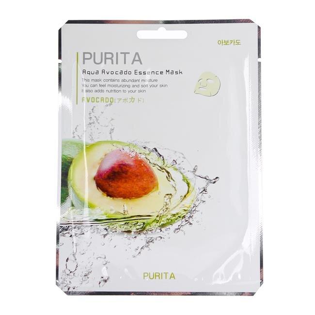 Mặt nạ giấy chiết xuất từ trái bơ Purita Aqua Avocado Essence Mask