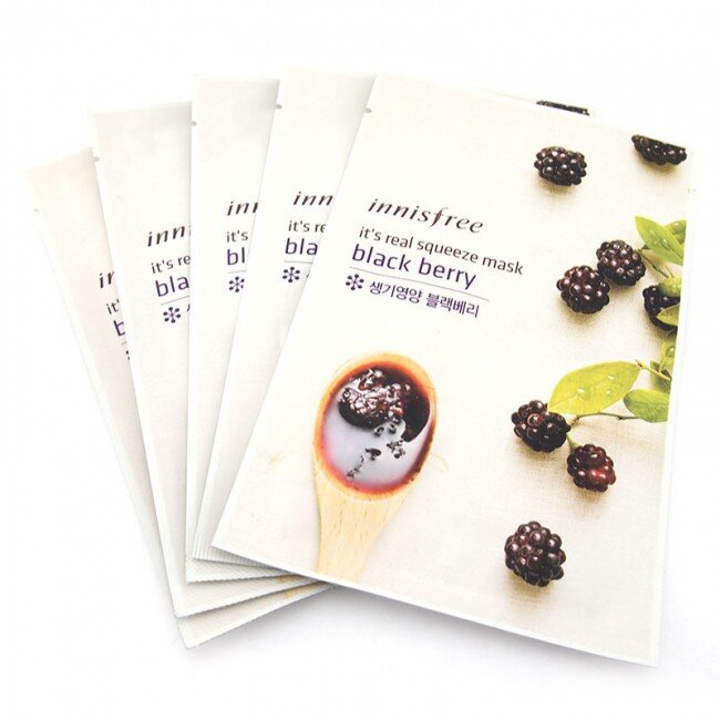 Mặt nạ giấy Innisfree It's Real Squeeze Mask Black Berry