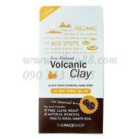 Mặt nạ lột mụn đầu đen Volcanic Clay Black Head Charcoal Nose Strip