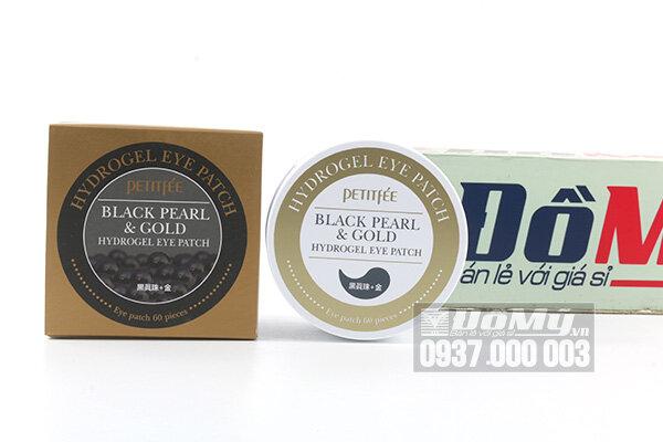 Mặt nạ mắt ngọc trai đen Black Pearl & Gold Hydrogel Eye Patch hộp 60 cái