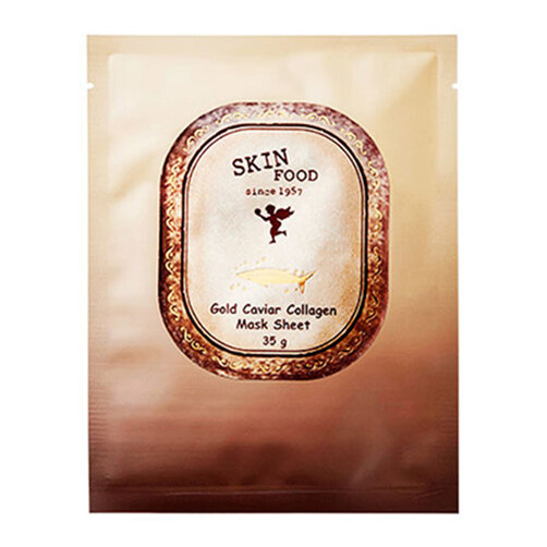 Mặt nạ miếng Collagen từ trứng cá tầm và vàng Skinfood Gold Caviar Collagen Mask Sheet 28g