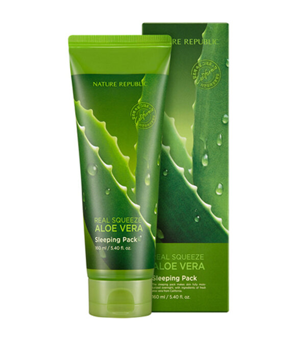 Mặt nạ ngủ Nature Republic Real Squeeze Aloe Vera Sleeping Pack 160ml
