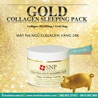 Mặt nạ ngủ SNP vàng Gold Collagen Sleeping Pack