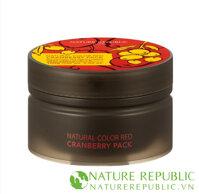 Mặt nạ thiên nhiên chiết xuất quả việt quất Nature Color Red Cranberry Pack
