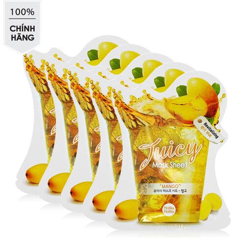 Mặt nạ xoài Holika Holika Juicy Mask Sheet Mango 5 miếng