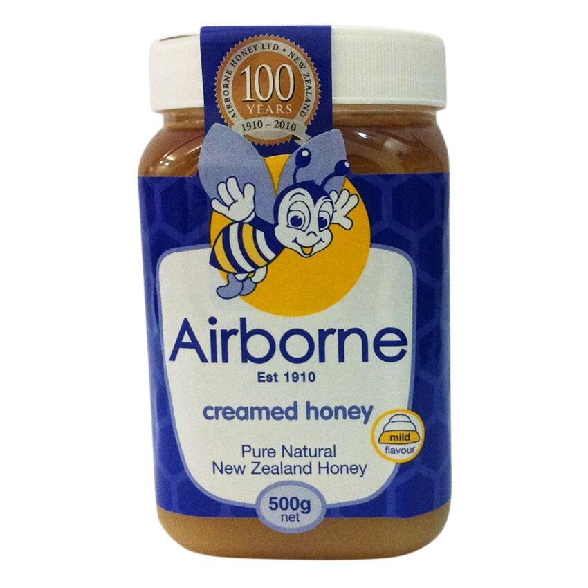 Mật ong kem Airborne Creamed Honey – hộp 500g