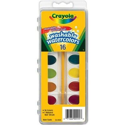 Màu nước vỉ 16 màu (tẩy rửa được) Crayola 5305552007