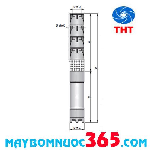Máy bơm nước giếng khoan Ircem 8 inch SG8E/3 + 6BS300 40 HP