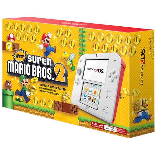 Máy chơi game Nintendo 2DS Scarlet Red with New Super Mario Bros. 2 (USA)