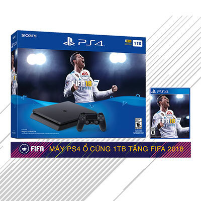 Máy chơi game PS4 Slim 500GB Fifa 18 Bundle hàng US