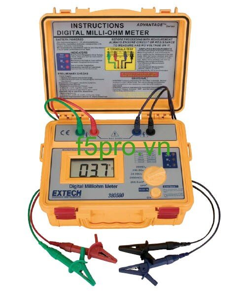 Máy đo điện trở Milliohm Extech 380580
