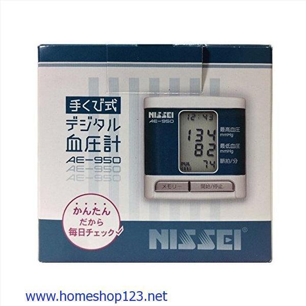 Máy Đo Huyết Áp Cổ Tay Nhật Bản NISSEI AE-950