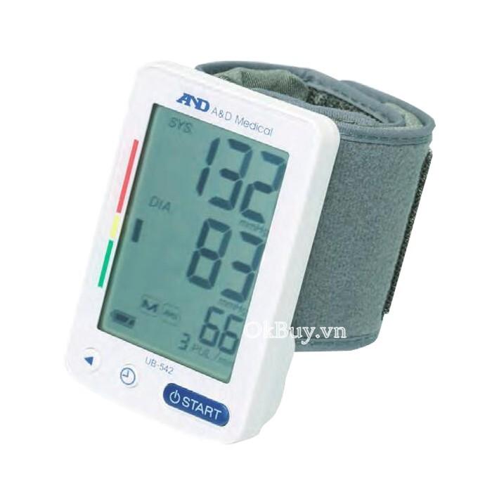 Máy đo huyết áp cổ tay tự động AND UB-542