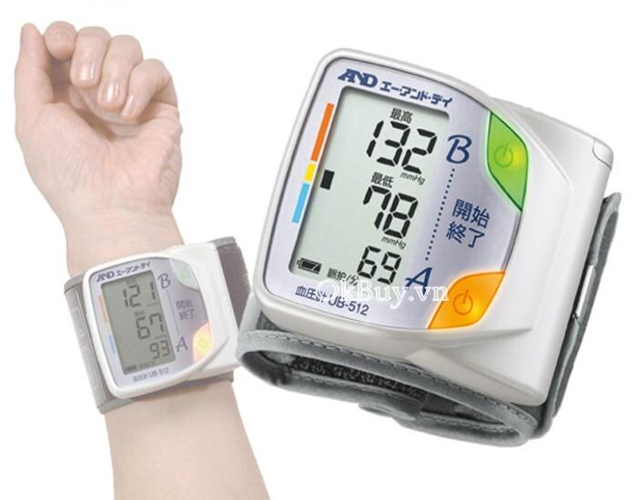 Máy đo huyết áp cổ tay tự động AND UB-512