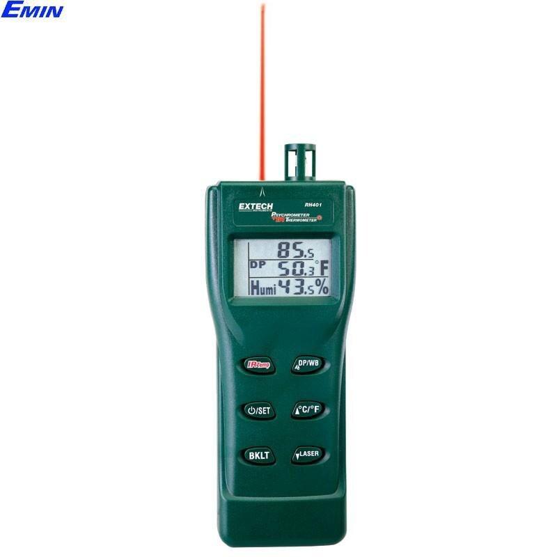 Máy đo nhiệt độ hồng ngoại độ ẩm Extech RH401