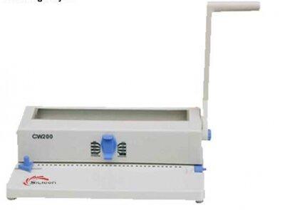 Máy đóng sách gáy xoắn kẽm Silicon BM-CW200 (BM-CW-200) - lỗ vuông