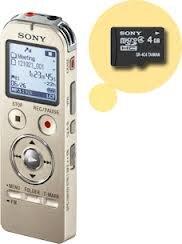 Máy ghi âm Sony ICD-UX533F (B/N/S) - 4GB