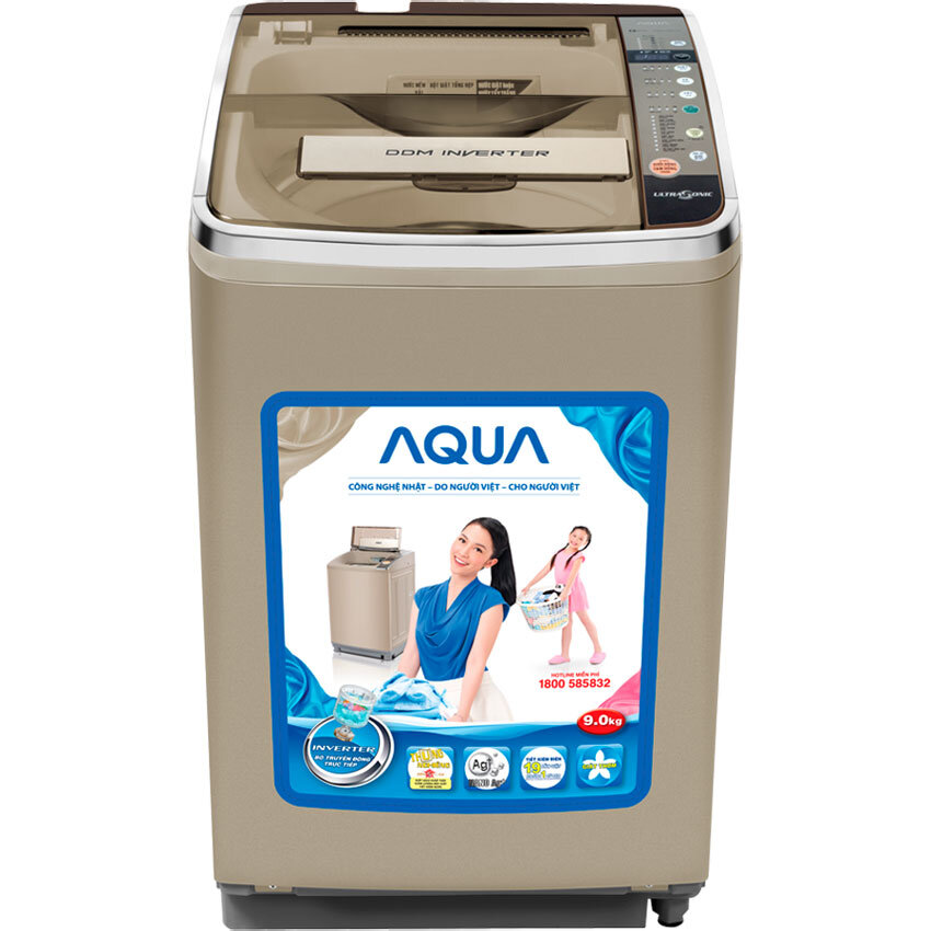 Máy Giặt Cửa Trên Aqua AQW-D901AT - 9 kg, Inverter