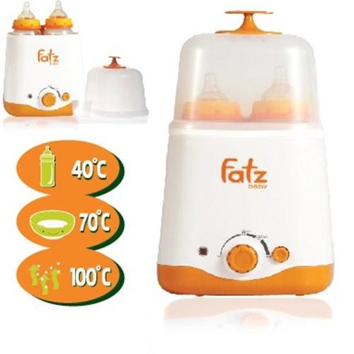 Máy hâm sữa và tiệt trùng siêu tốc 2 bình Fatz babay FB210