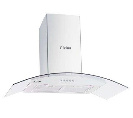 Máy hút khói- khử mùi Civina CV-3388C - kính cong