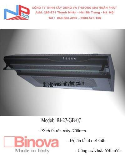 Máy hút mùi Binova BI-27-GB-07