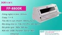 Máy in kim Jolimark FP8800K