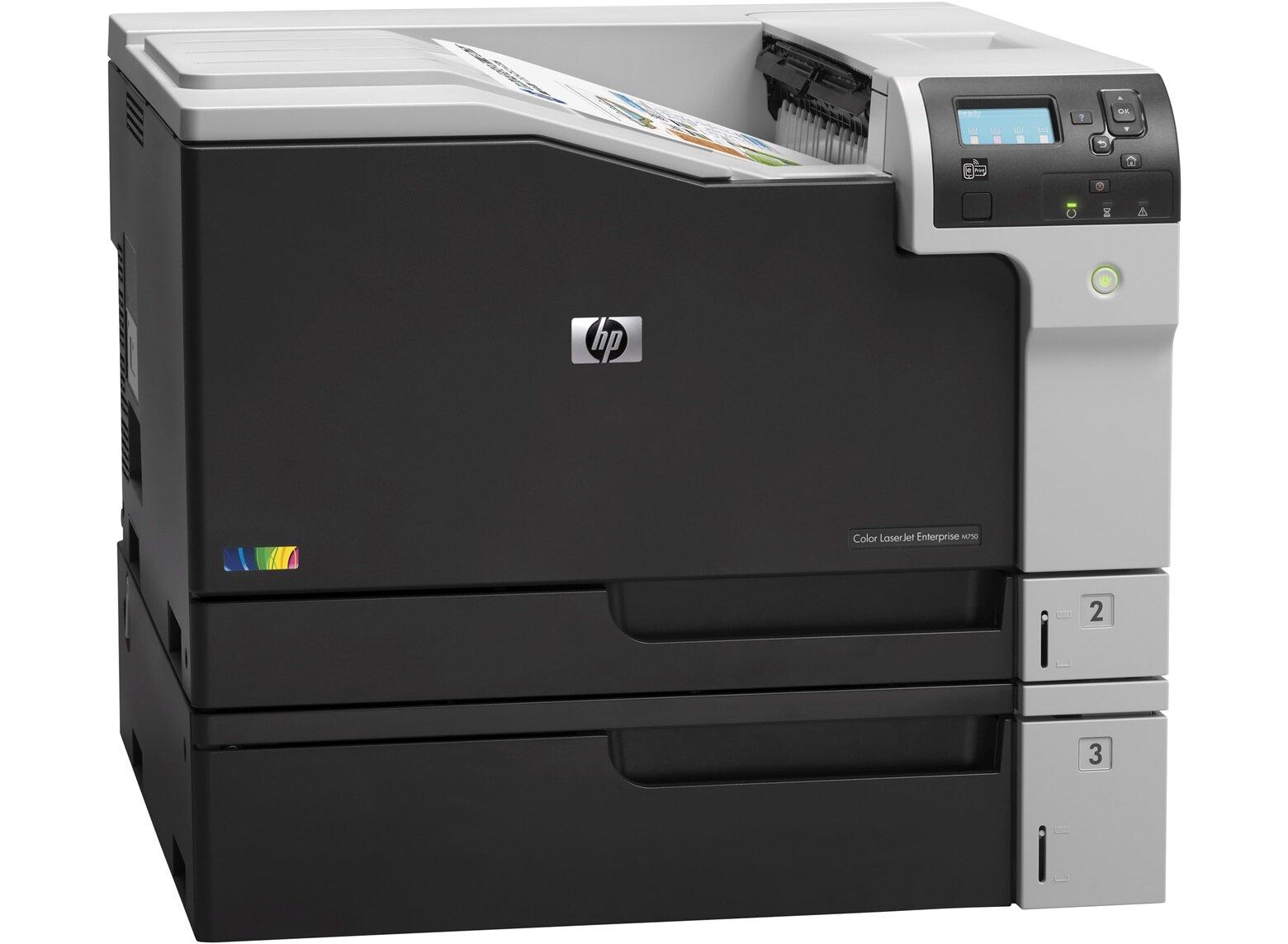 Máy in laser màu HP Enterprise M750N - A3, In mạng