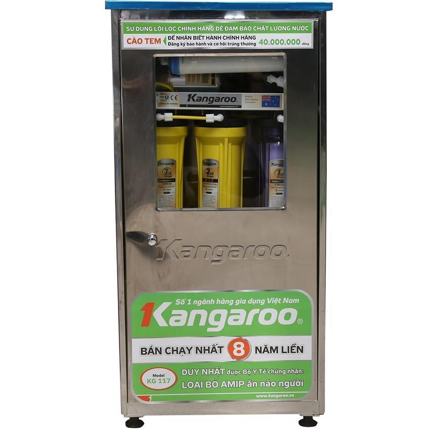 Máy lọc nước Kangaroo KG117 (KG-117NT) - 7 lõi, vỏ nhiễm từ