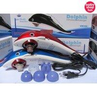 Máy massage cầm tay cá heo 3 đầu nhựa