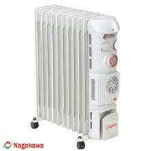 Máy sưởi dầu Nagakawa NA-SD06 - 11 thanh sưởi, hẹn giờ, quạt gió