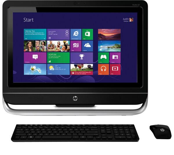 Máy tính để bàn All in one HP Pavilion TouchSmart 23 (H5Y67AA) - Intel Core i3-3240 3.4GHz, 4GB DDR3, 1TB HDD, VGA NVIDIA GeForce 610 1GB