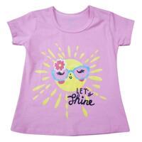 Áo thun hồng in họa tiết mặt trời Nanio AG011