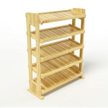 Kệ dép 5 tầng IB580 gỗ cao su 80x30x98 cm