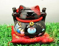 Mèo thần tài – Khai vận (màu đen)