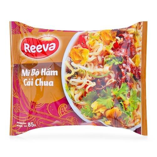 Mì bò hầm cải chua 3 Miền Reeva gói 85g